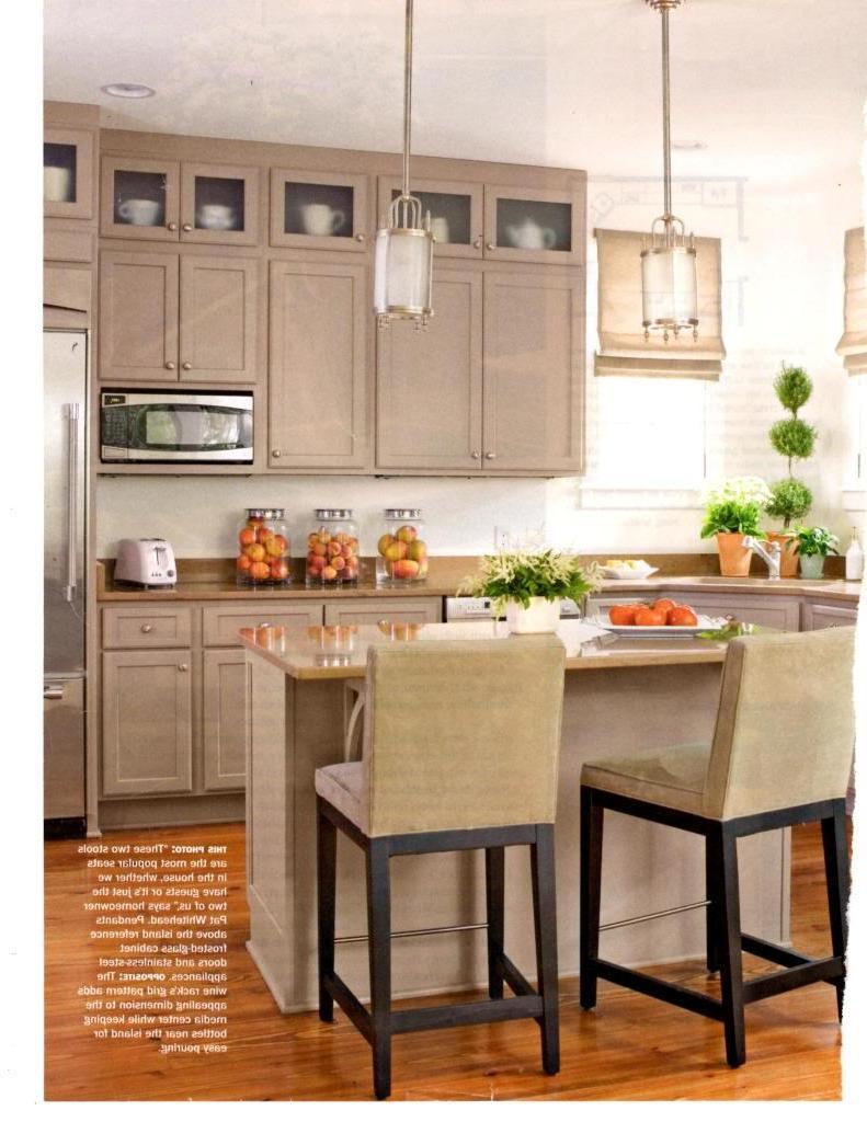 Beige kitchen cabinets photos for Beige painted kitchen cabinets