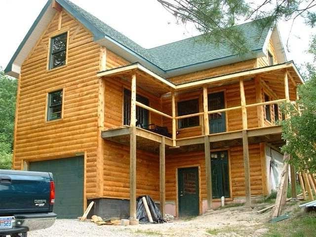 Log siding photos for Sip cabin