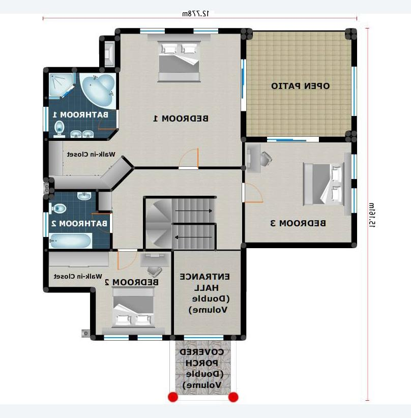 Colonial house. WHAT YOU GET: (.Zip file) 1. Plans in Pdf Format...
