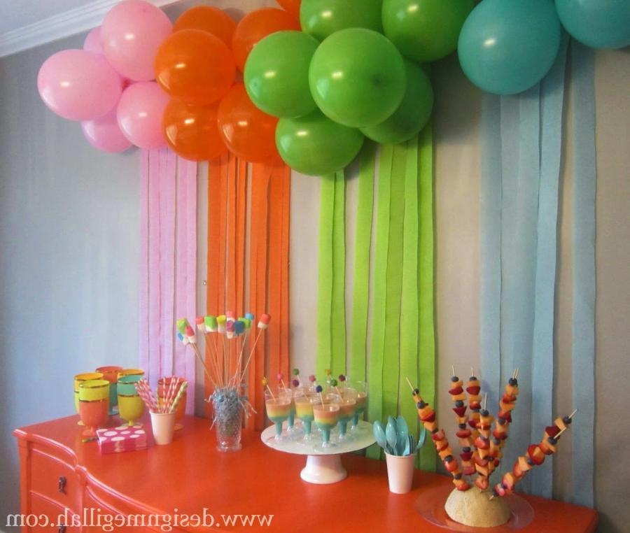 Как украшать дом на день рождения своими руками