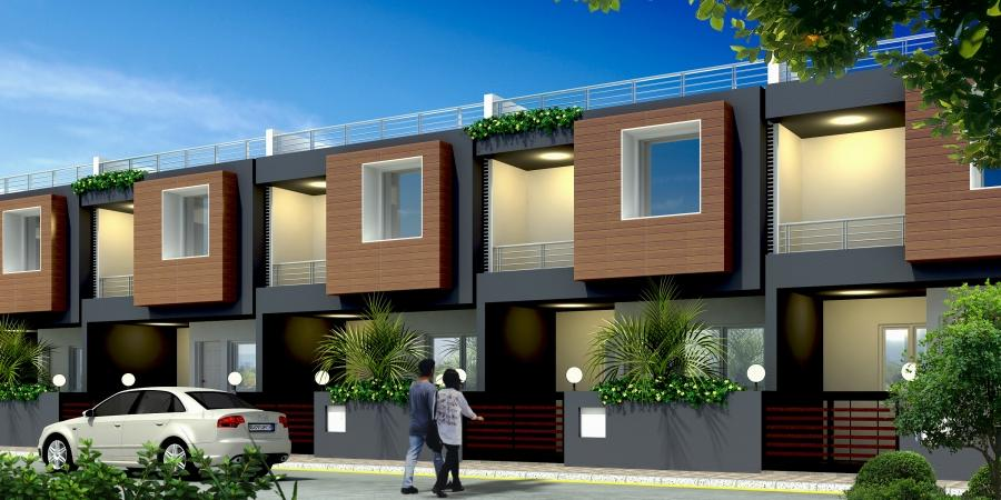 Pin row house elevation on pinterest for Row house front elevation