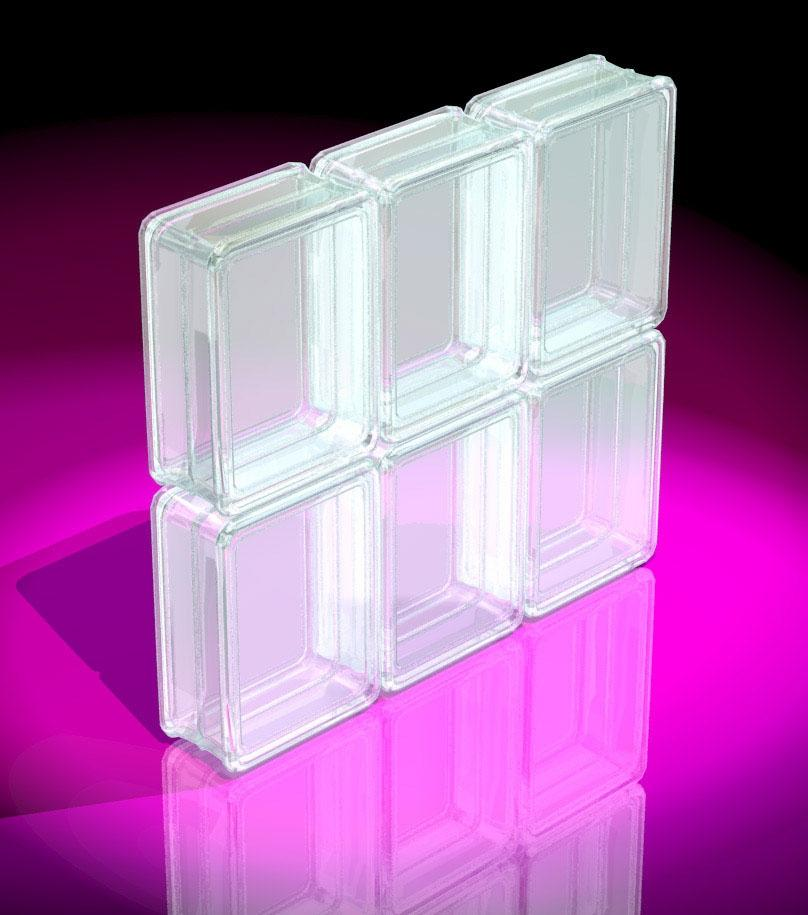 Glass block glass vases glass block 50x50x80 mm for Acrylic glass blocks