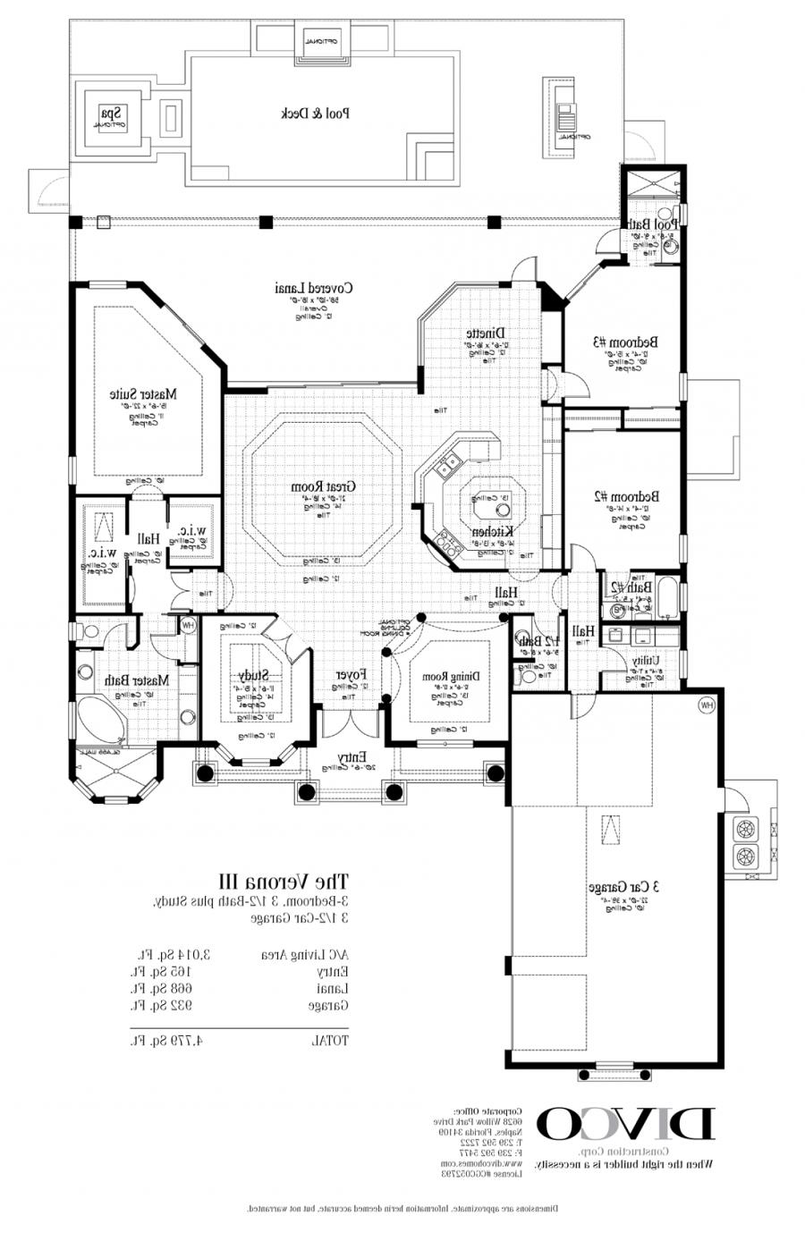 Custom home floor plans photos for Custom home plans florida