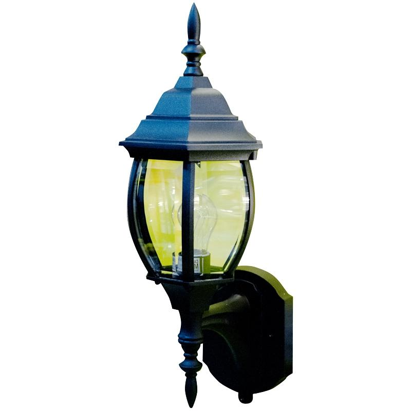 Outdoor Light Fixture 17u0026quot; Black w/Photocell