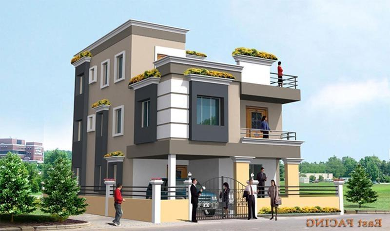 Duplex house front elevation photos for Duplex house front elevation pictures