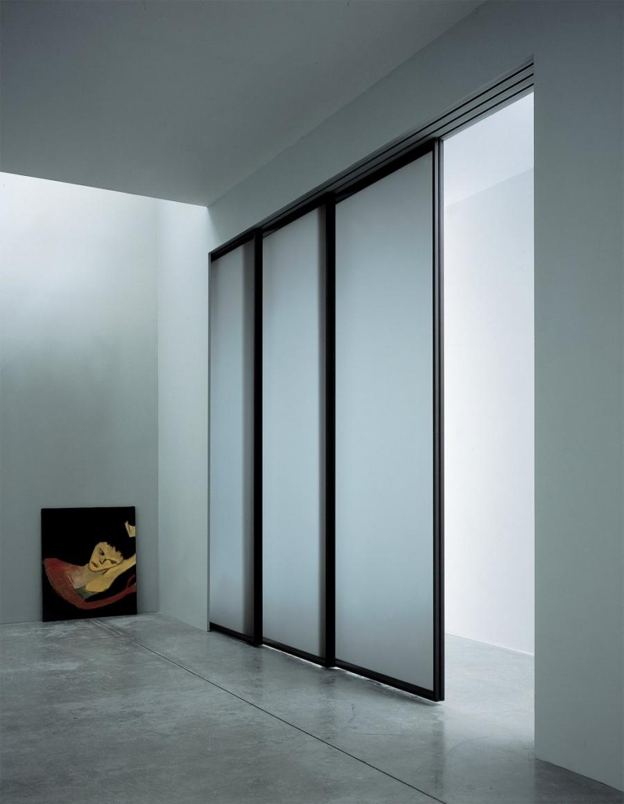 Modern glass photo frames for Modern glass pocket doors