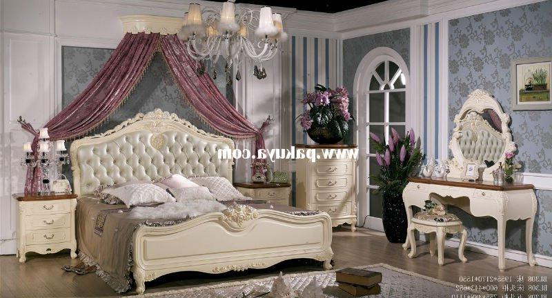 White American / French Style Wooden Bedroom Sets Furniture...