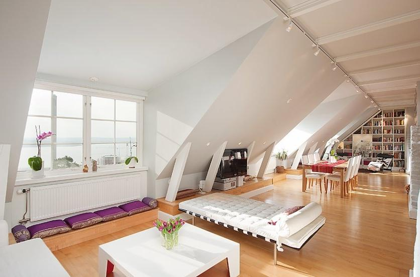 Stockholm Attic Innovation with Stepped Walls and Steep Ceilings...