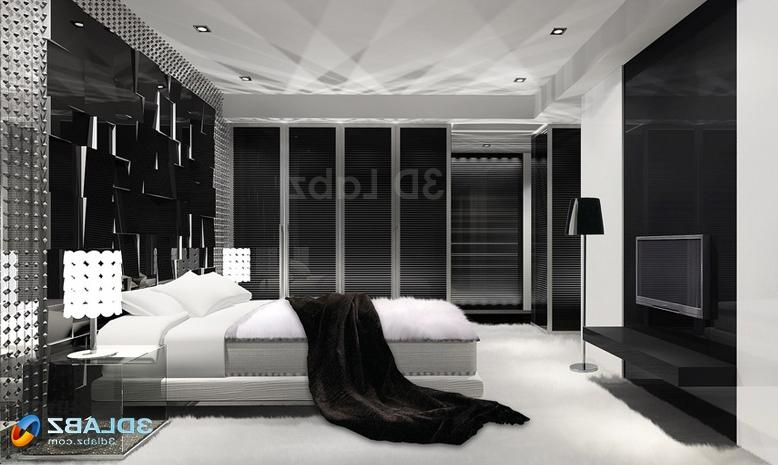 Fanciful New Black Bedroom For Home Interiors