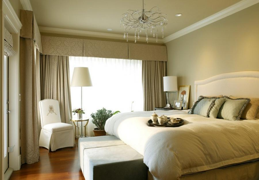 ... Modern bedroom custom curtains picture