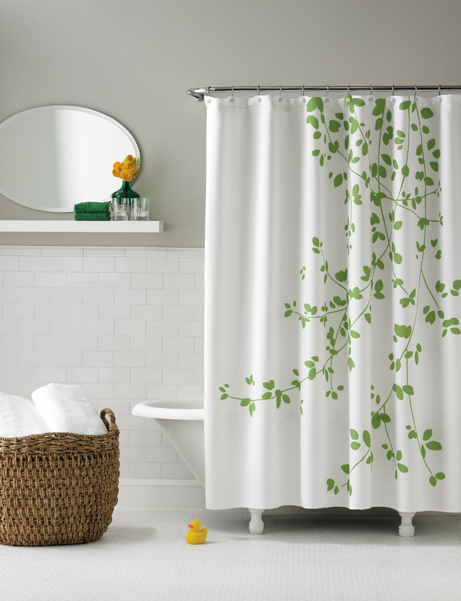 Minimalist Curtain Design Nice Shower Curtain Ideas With Green...