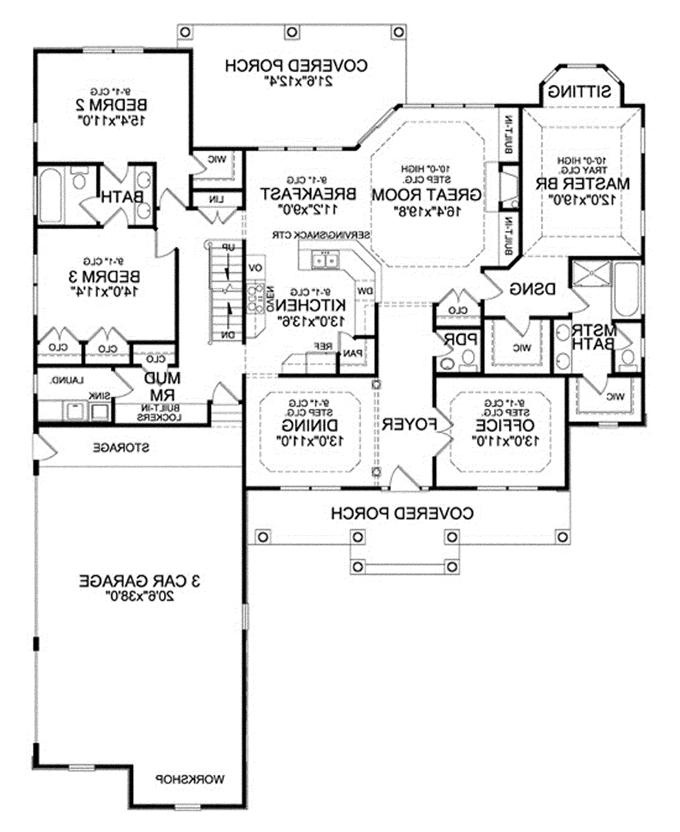 Walkout basement house plans photos for Walkout basement floor plans