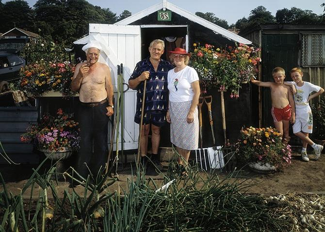 People in garden, third place: Mr and Mrs Wright and Friends by...