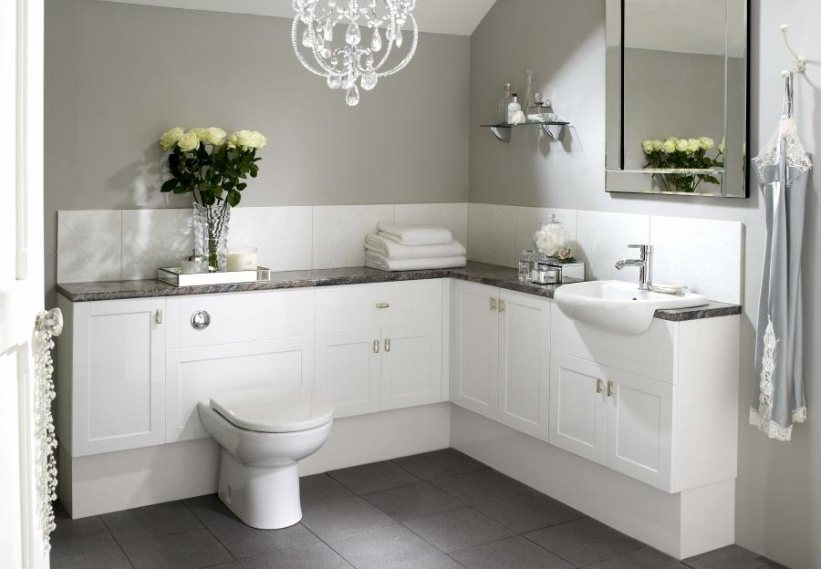 White Bathrooms Shaker Gloss White Main Set