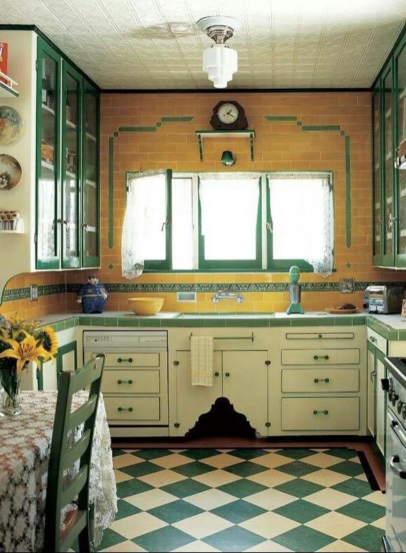 Checkered Kitchen Floor Tile