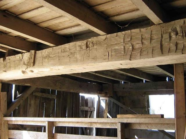 Another fine example of hand hewed beam detail.?