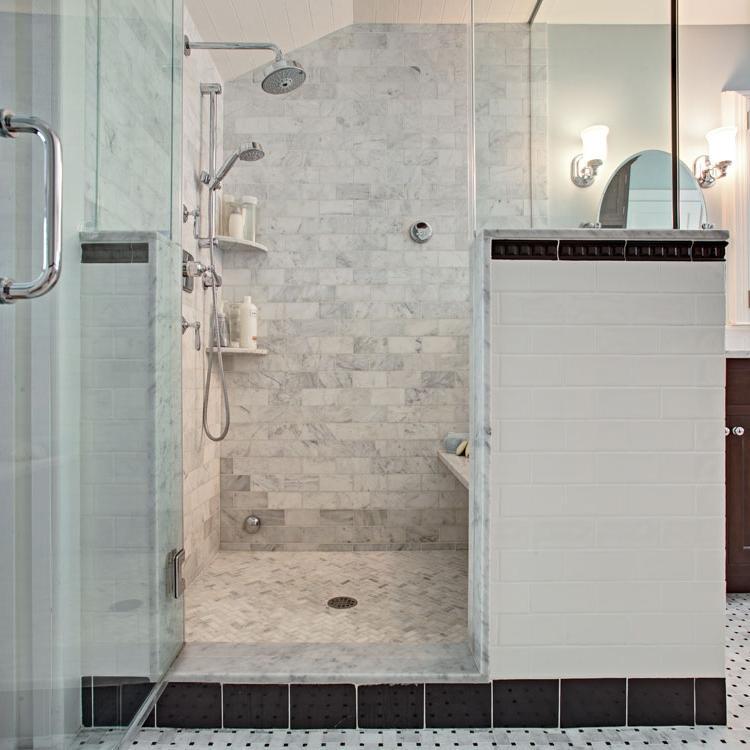 Photos of carrara marble bathrooms for Bathroom design nj