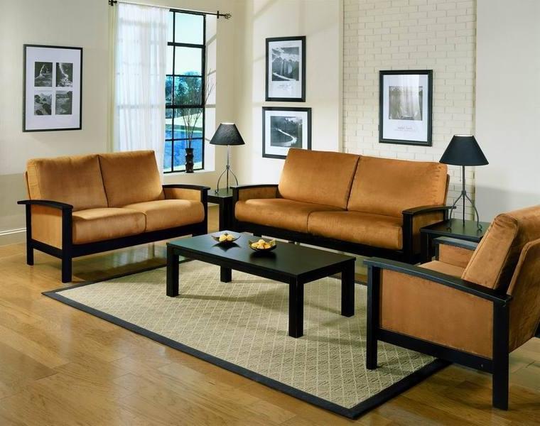 Wooden Sofa Sets Photos