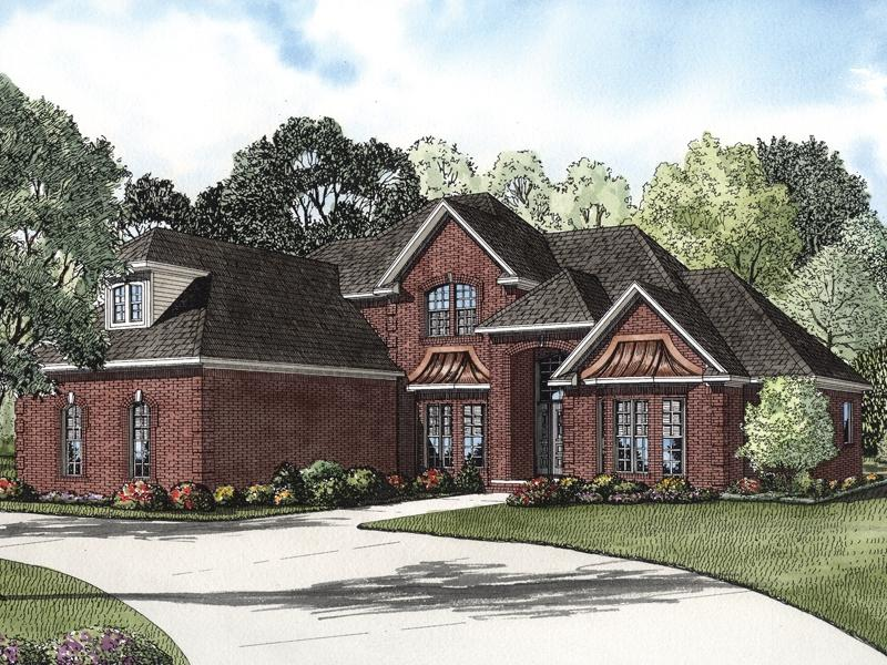 Photos of two story brick homes for 2 story brick house plans