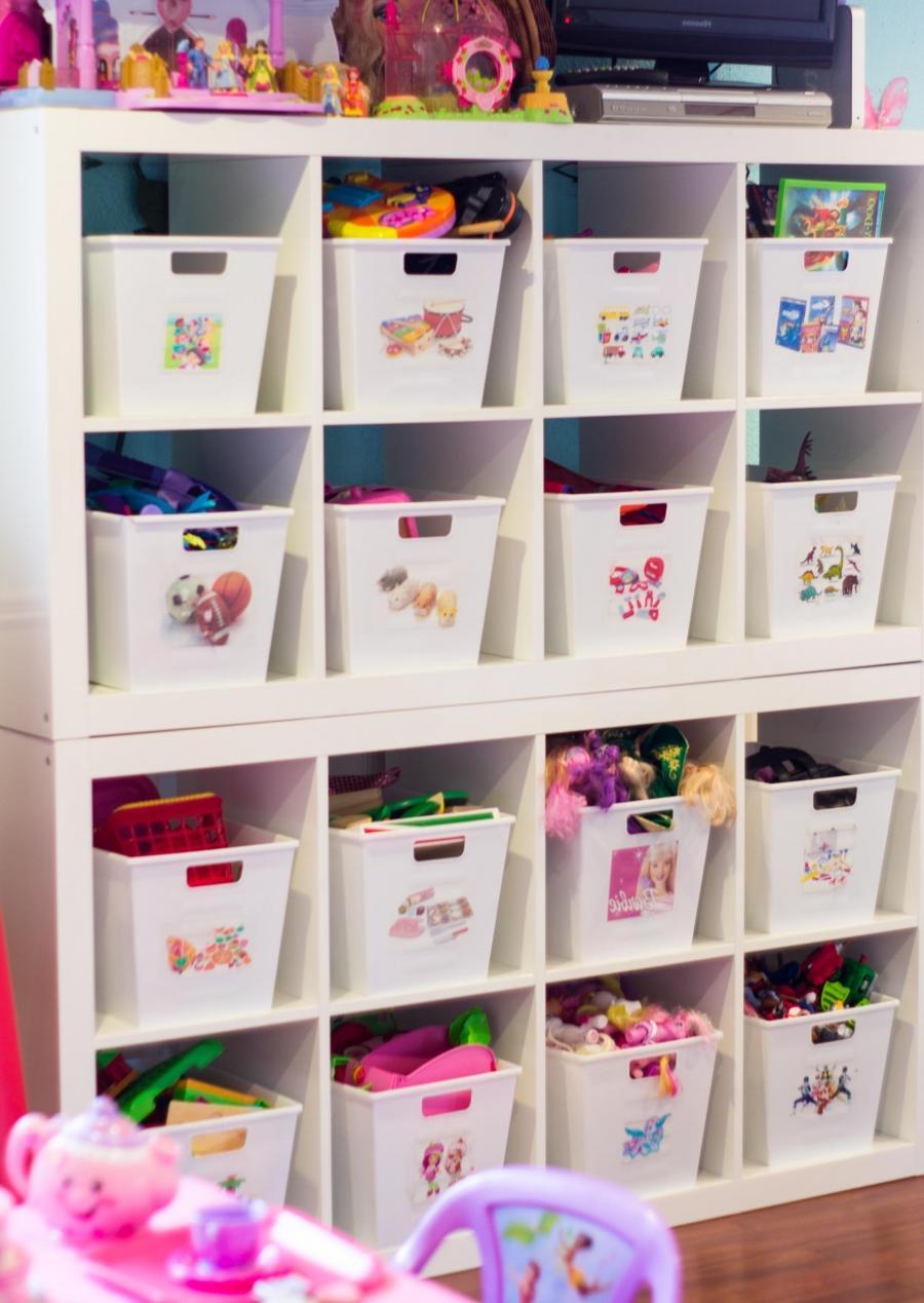 New Bookcase Toy Box White Finish Bedroom Playroom Child: Organized Playroom Photos