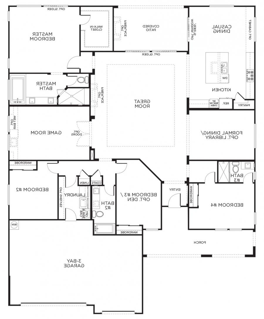Single Home Designs: Single Story House Plans With Photos