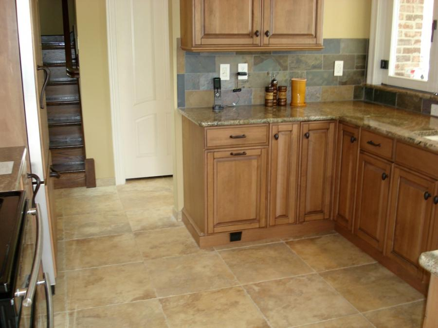 Porcelain Kitchen Tile Floor - Tile Installation St. Louis -...