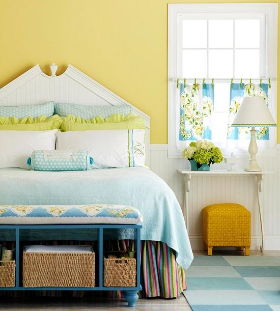 What do you think of these blue and yellow rooms?