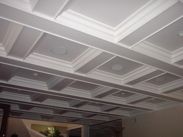 Photos of coffered ceilings for Foam coffered ceiling