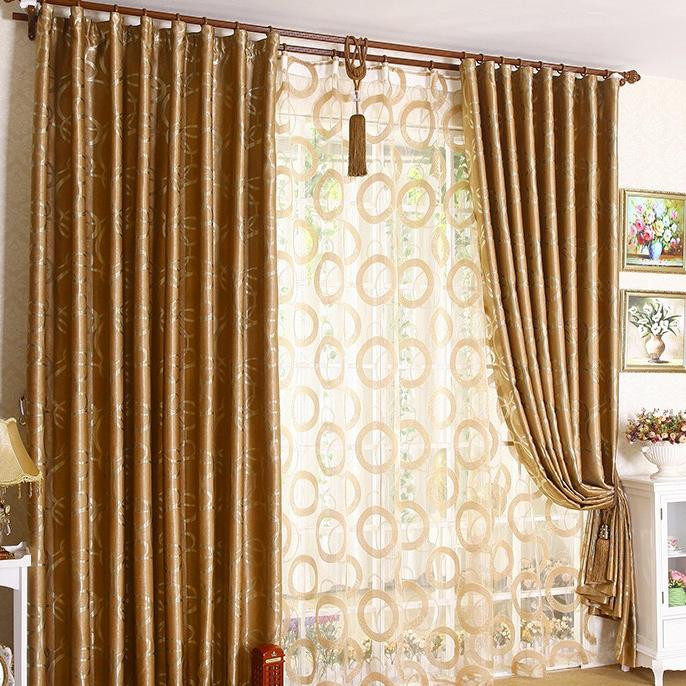 4. Pictures Show. Graceful Golden Yellow Jacquard Blackout...
