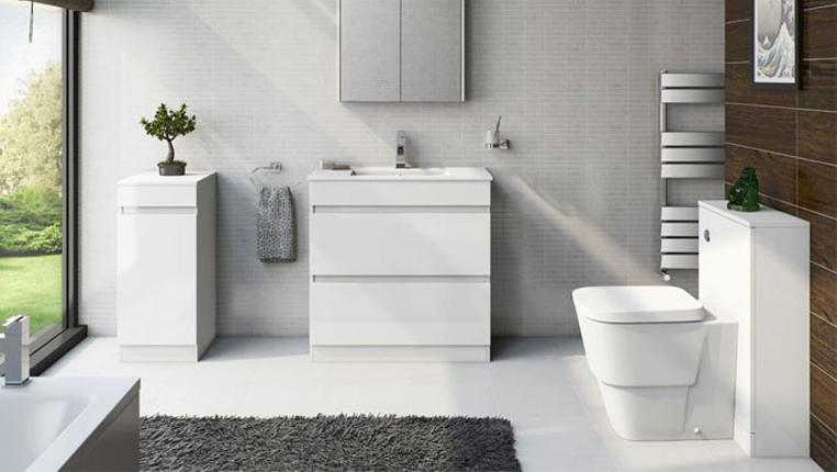MFI Plan White Bathroom Furniture