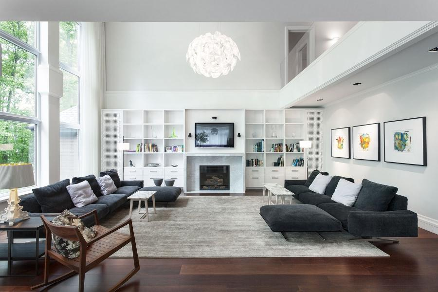 Living Room : Apartment Livingroom Interior Luxury Modern Living...