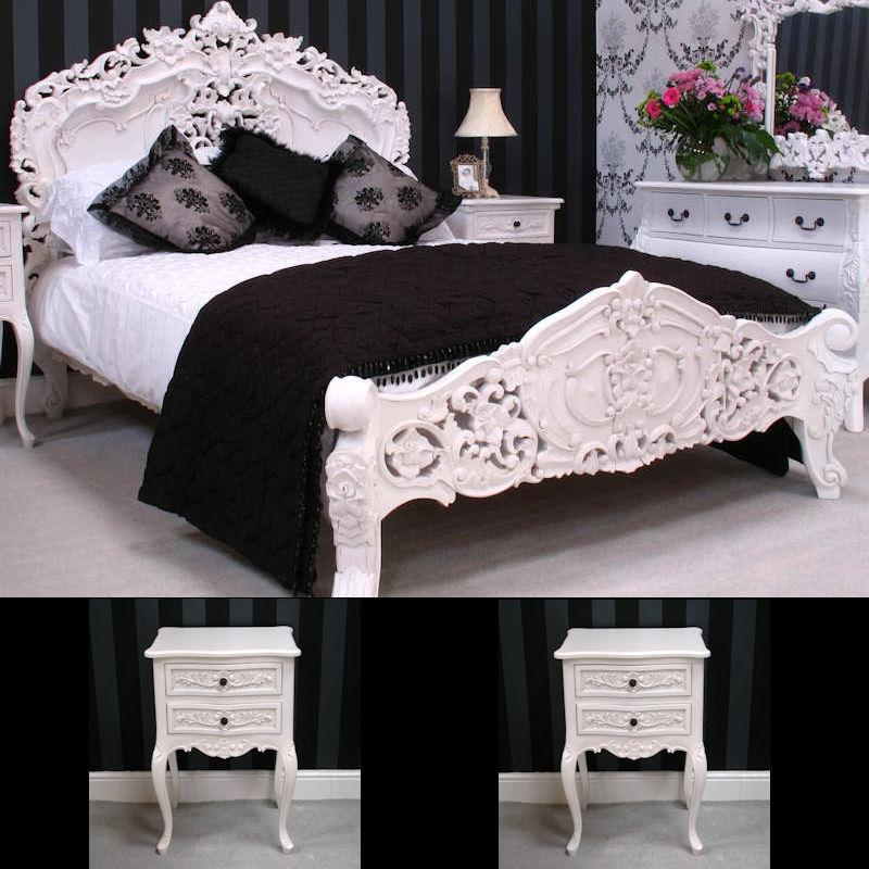 French Rococo Style Bedroom Package (White Painted)