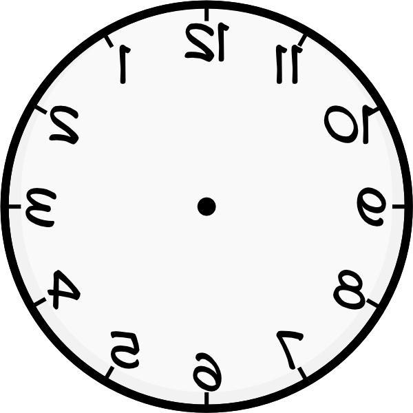Photo Clock Face Template