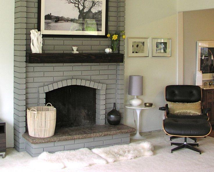 Grey Brick Fireplace Photos