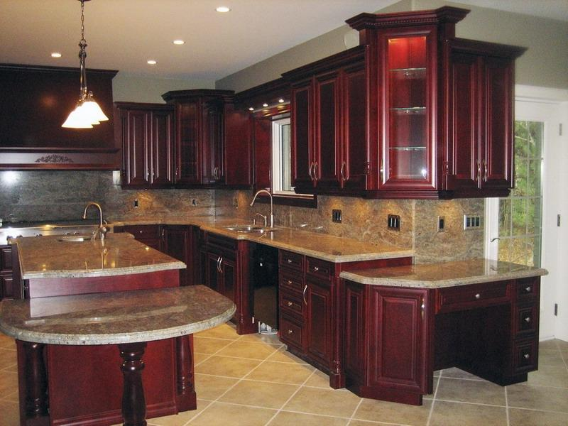 Kitchen photo gallery cherry cabinets for Kitchen photo gallery