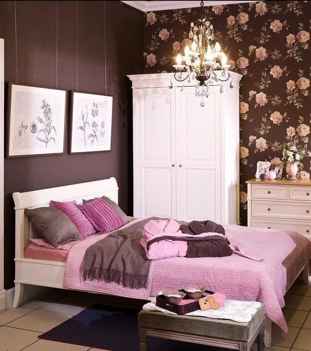 Photos of pink and brown bedrooms for Brown pink bedroom ideas