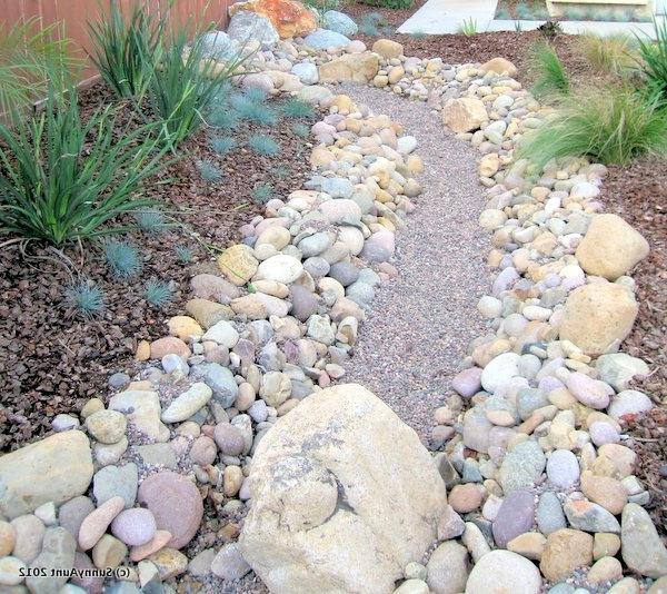 Dry river bed landscaping photos for Low maintenance native plants