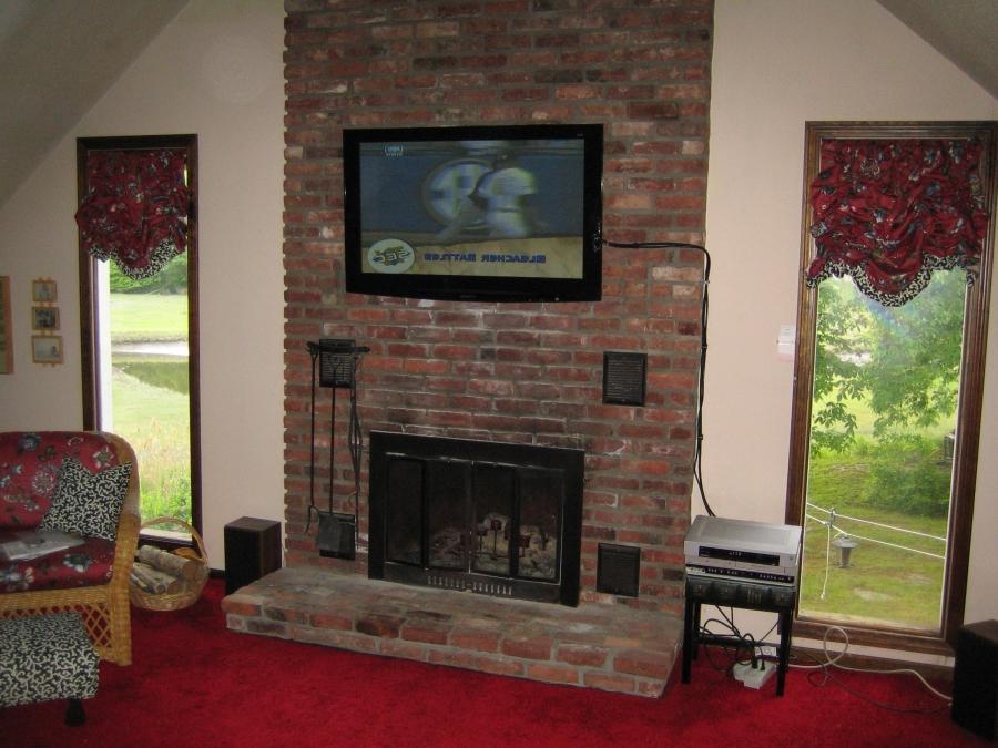 Flat Screen Tv Over Fireplace Photos
