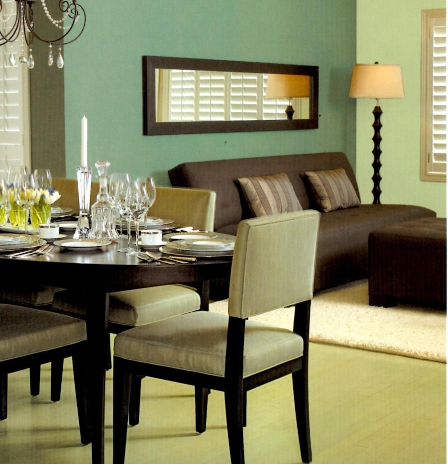 Sage green dining room photos for Green dining room