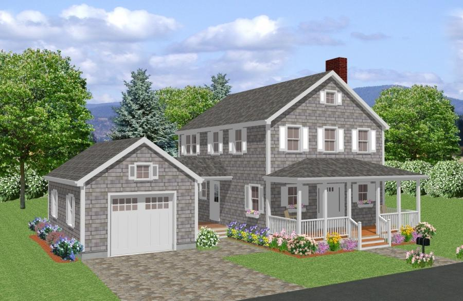 New England Colonial House Photos