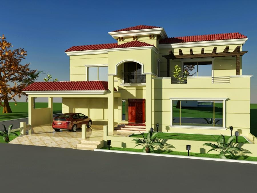 Front Elevation Of 8 Marla Houses : Paint designs of front elevation marla houses images