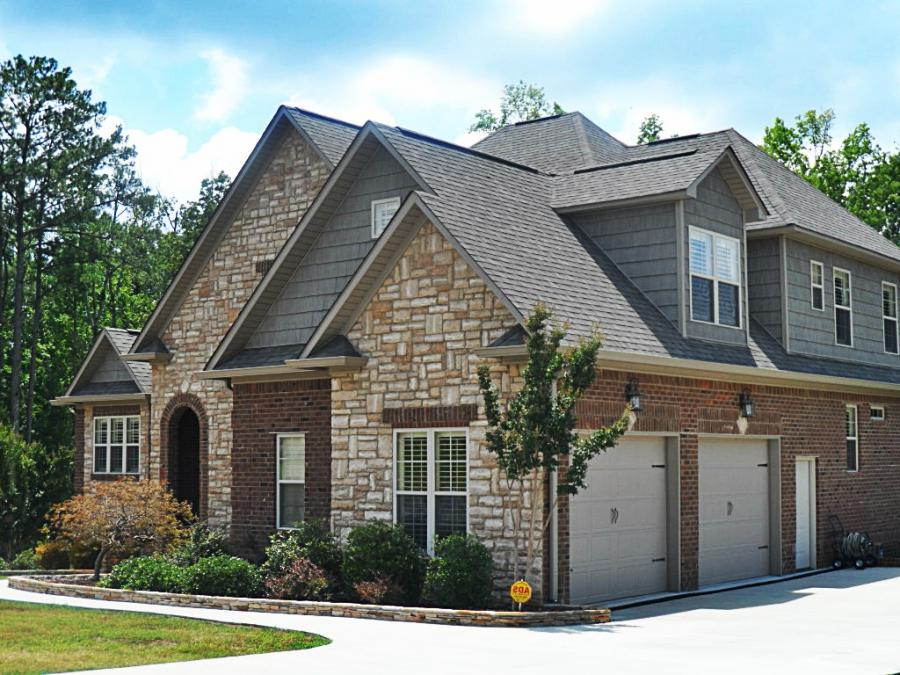 Outside Photos House By Combination Of Stone Brick