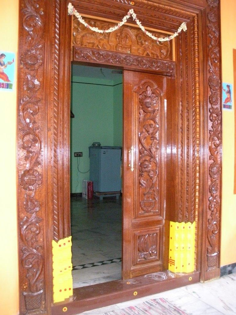 South indian main door designs photos for Door design india