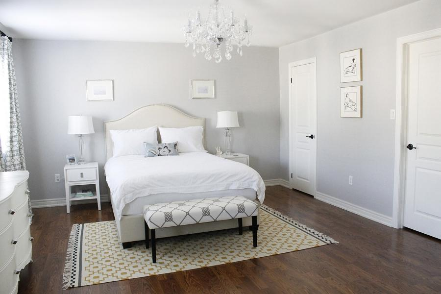 Luxury Chandelier Along With Feminine White Bedroom As Well As...