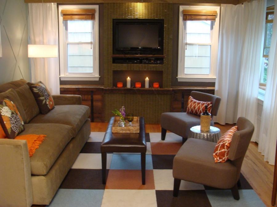 Furniture placement around fireplace photos for Furniture placement with tv and fireplace