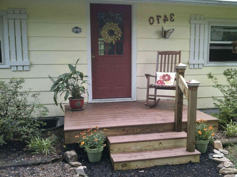 Composite decking used in beautiful front porch