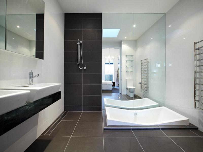 Classic bathroom design with corner bath using ceramic - Bathroom...