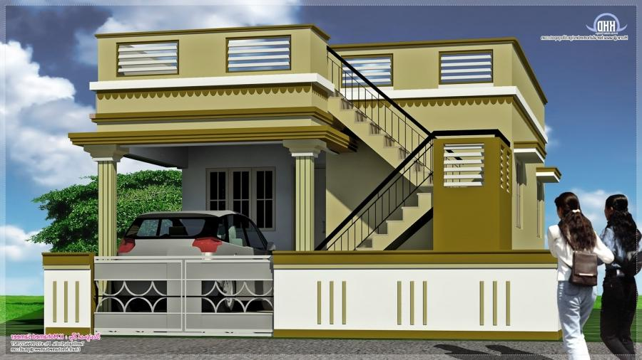 North indian house designs photos for South indian model house plan