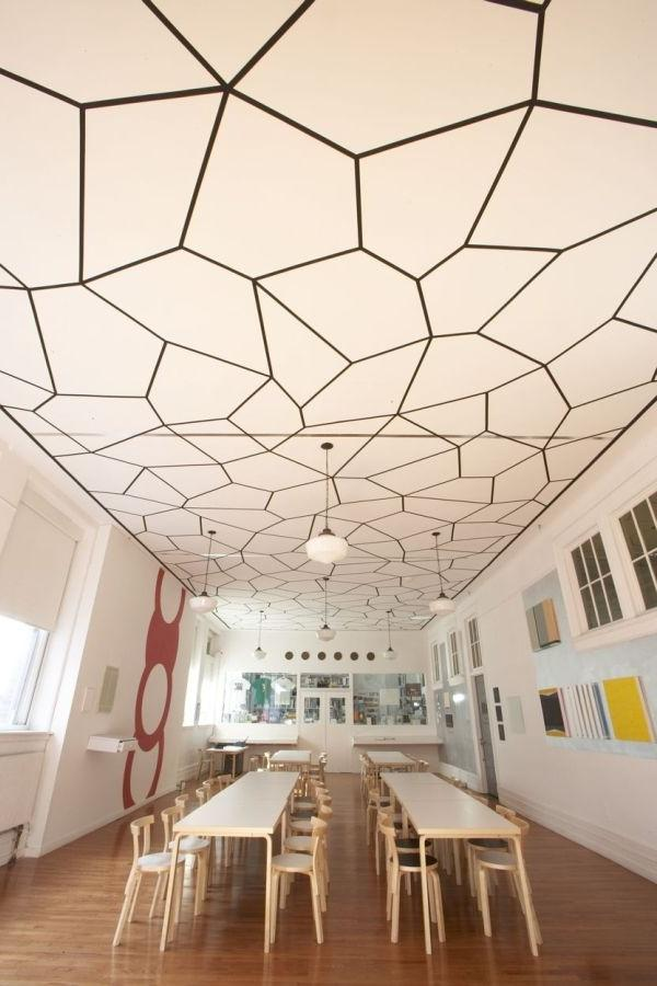 Pattern can also be used to create an eye-catching ceiling...