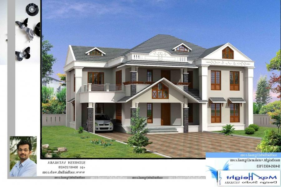 New house models photos kerala for Kerala new model house